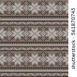 vector knitted geometrical... | Shutterstock .eps vector #561870745