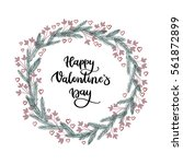 happy valentines day hand... | Shutterstock .eps vector #561872899