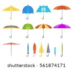 set of vector cute multicolor...