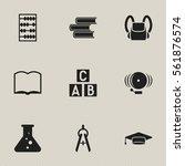 set of 9 editable education... | Shutterstock .eps vector #561876574