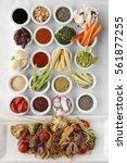 mongolian food recipe | Shutterstock . vector #561877255