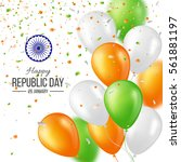 happy indian republic day... | Shutterstock .eps vector #561881197