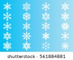 snowflake vector icon... | Shutterstock .eps vector #561884881