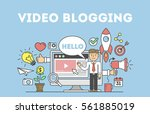 video blogging concept. idea of ... | Shutterstock .eps vector #561885019