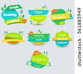 modern vector set of healthy... | Shutterstock .eps vector #561885949