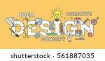 design concept illustration on... | Shutterstock .eps vector #561887035