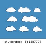 cloud icons. vector icon set.... | Shutterstock .eps vector #561887779