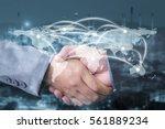 double exposure of... | Shutterstock . vector #561889234