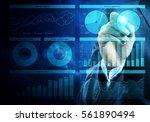 close view of businessman... | Shutterstock . vector #561890494