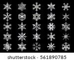 snowflake vector icon... | Shutterstock .eps vector #561890785