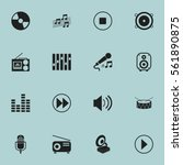 set of 16 media icons. includes ...