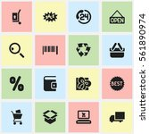 set of 16 icons. includes...