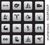 set of 16 fitness icons....