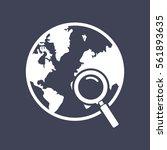 globe search icon   Shutterstock .eps vector #561893635