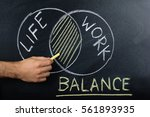 close up of person hand showing ... | Shutterstock . vector #561893935