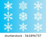 snowflake vector icon...   Shutterstock .eps vector #561896737