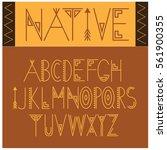 native font symbol icon... | Shutterstock .eps vector #561900355