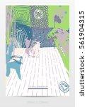 abstract creative artistic...   Shutterstock .eps vector #561904315
