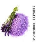 Pile Of Lavender Bath Salt Wit...