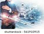 industry 4.0 concept  smart... | Shutterstock . vector #561910915