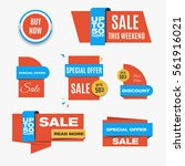 orange sale banners. collection ... | Shutterstock .eps vector #561916021