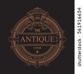 antique frame logo vintage... | Shutterstock .eps vector #561916654
