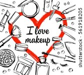 images of cosmetics on a... | Shutterstock .eps vector #561918205