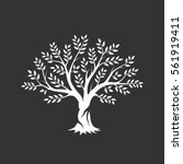 Olive Tree Silhouette Icon...