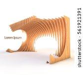 3d rendering of parametric... | Shutterstock . vector #561921391