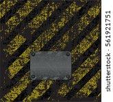 empty vector old rusty metal... | Shutterstock .eps vector #561921751