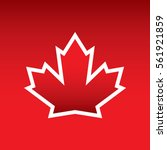 a vector maple leaf with a...   Shutterstock .eps vector #561921859