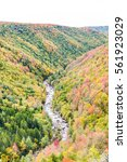 Small photo of Blackwater river with Allegheny mountains in autumn