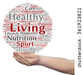 concept or conceptual healthy... | Shutterstock . vector #561923821
