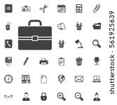 briefcase icon on the white... | Shutterstock .eps vector #561925639