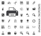 print icon on the white... | Shutterstock .eps vector #561925651