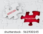 white puzzle with void in the...   Shutterstock . vector #561930145