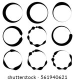 irregular lined circles. vector ... | Shutterstock .eps vector #561940621