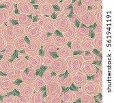 seamless pattern of stylized...   Shutterstock . vector #561941191