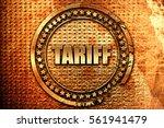 tariff  3d rendering  grunge...