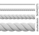 set of ropes  isolated on white ...   Shutterstock .eps vector #561942271