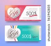 gift voucher discount template... | Shutterstock .eps vector #561942835