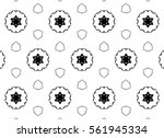 picture with black and white... | Shutterstock . vector #561945334