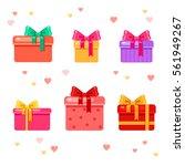 vector set of different... | Shutterstock .eps vector #561949267