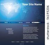 website template vector | Shutterstock .eps vector #56195206