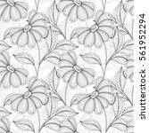 vector seamless monochrome... | Shutterstock .eps vector #561952294
