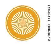 orange gear abstract art deco... | Shutterstock .eps vector #561954895