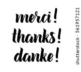 thank you phrase  hand drawn... | Shutterstock .eps vector #561957121