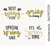 it's spring time lettering...   Shutterstock .eps vector #561957229
