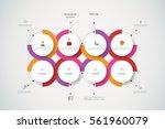 vector infographics templates... | Shutterstock .eps vector #561960079