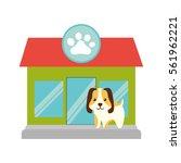 puppy little pet domestic pet... | Shutterstock .eps vector #561962221